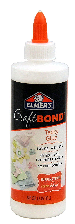 Elmer's Craft Bond Tacky Glue, 8 Oz, Clear (E461) Elmers Products INC
