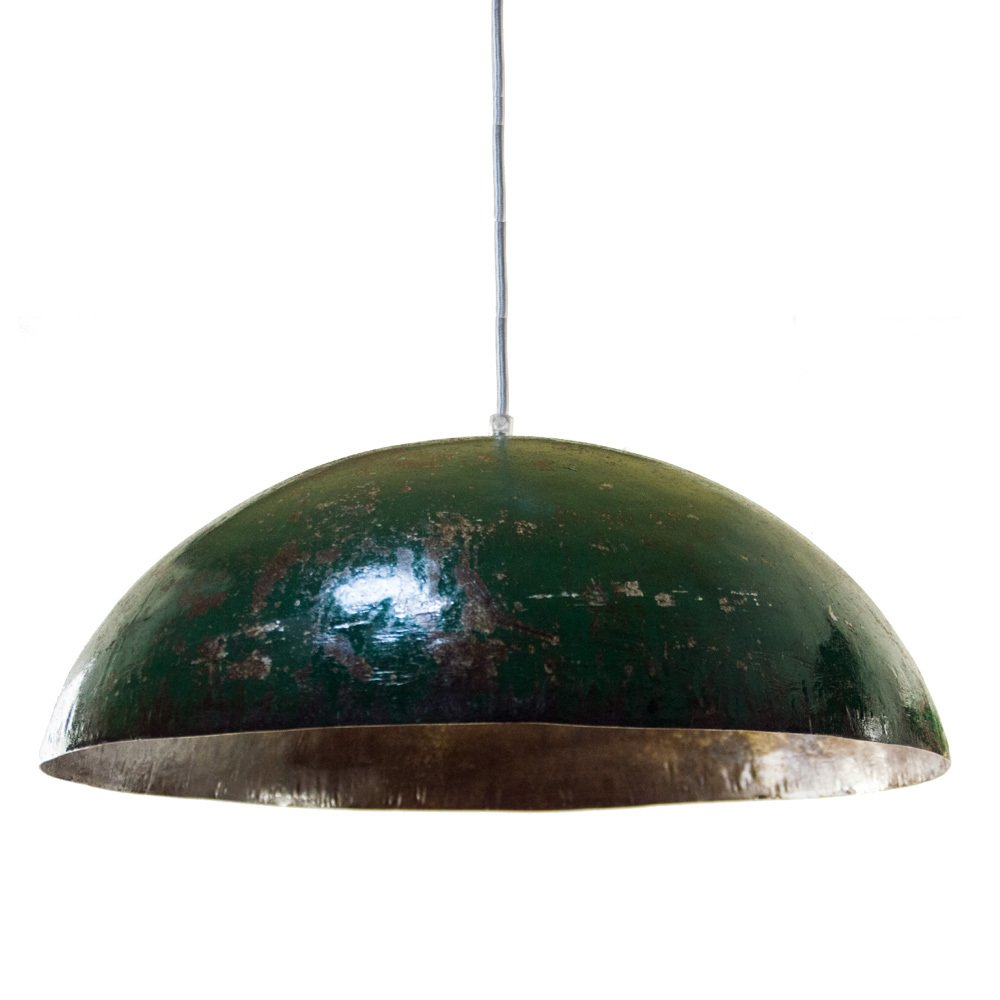 Upcycling Deckenleuchte Ölfass Industrial, Farbe Grün