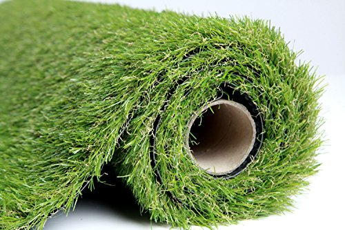 EcoMatrix Artificial Grass Indoor/Outdoor Fake Carpets/Mat Realistic Landscape Synthetic Turf Pet Dog Area (3.3'x5') from MAX DIRECT