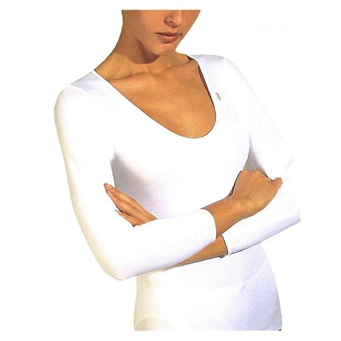 AVET 7728 - camiseta manga larga sin costuras (M, BLANCO)