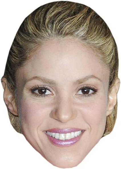 Shakira celebridad máscara, cartón cara y disfraz máscara: Amazon ...