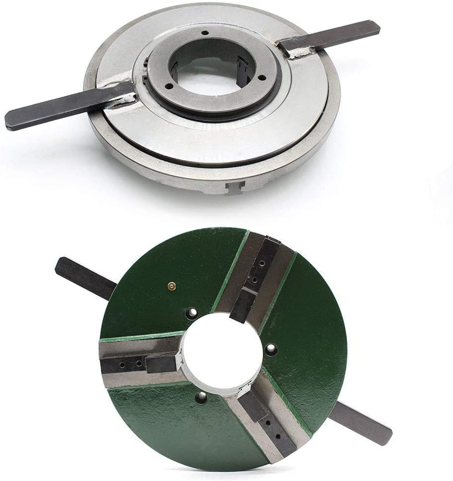 41318cm 12 3 JAW Self-Centering Welding Lathe Table Chuck S WP-300 Dia 300mm Milling Reversible 100mm Center USA STOCK