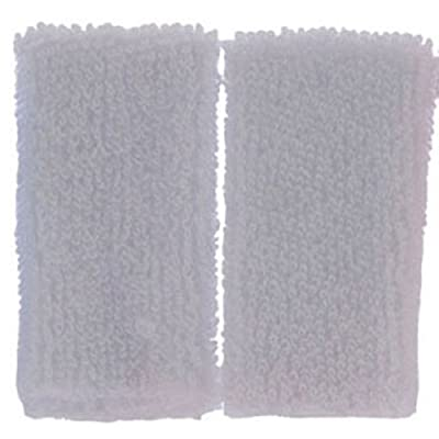 Dollhouse Miniature Set of 2 White Towels: Toys & Games