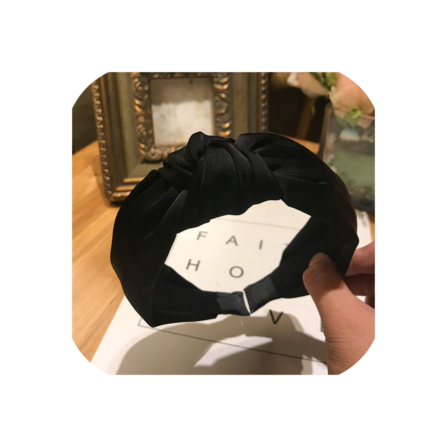 2019 New Arrival Women Girl Fashion Hair band Solid Colors Hair Knotted Head Band for Women Headbands Hairbands Headwear,R