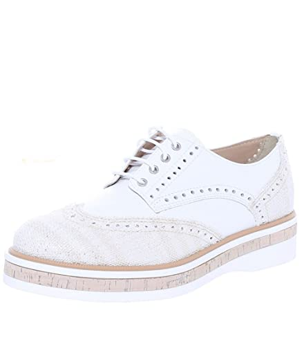 Peperosa Womens Leather Bogota Brogues White UK 7