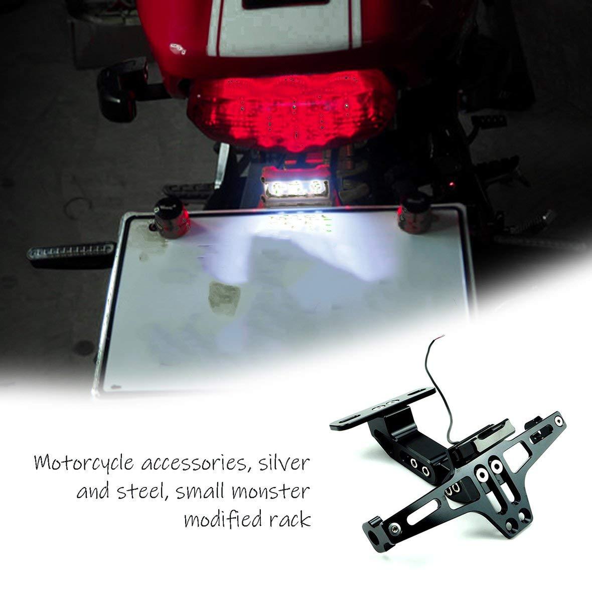 Heaviesk Motorrad hinterer Kennzeichenhalter Kennzeichenhalter Kennzeichenrahmen Richtungsanzeiger Motorradzubeh/ör