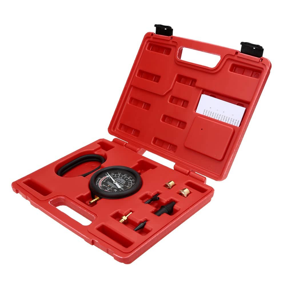 Dingq Vacuum & Fuel Pump Pressure Tester Pressure Gauge Test Tool Kit Carburettor Valve by Dingq (Image #2)