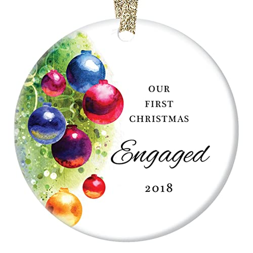Amazon.com: Colorful Engagement Ornament 2018, 1st Christmas Gifts ...