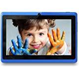 Yuntab 7 inch Tablet pc Q88 Allwinner A33 Cortex-A7 Quad-core HD1024*600 512MB+8GB dual camera Android 4.4 google play store loaded (Blue)