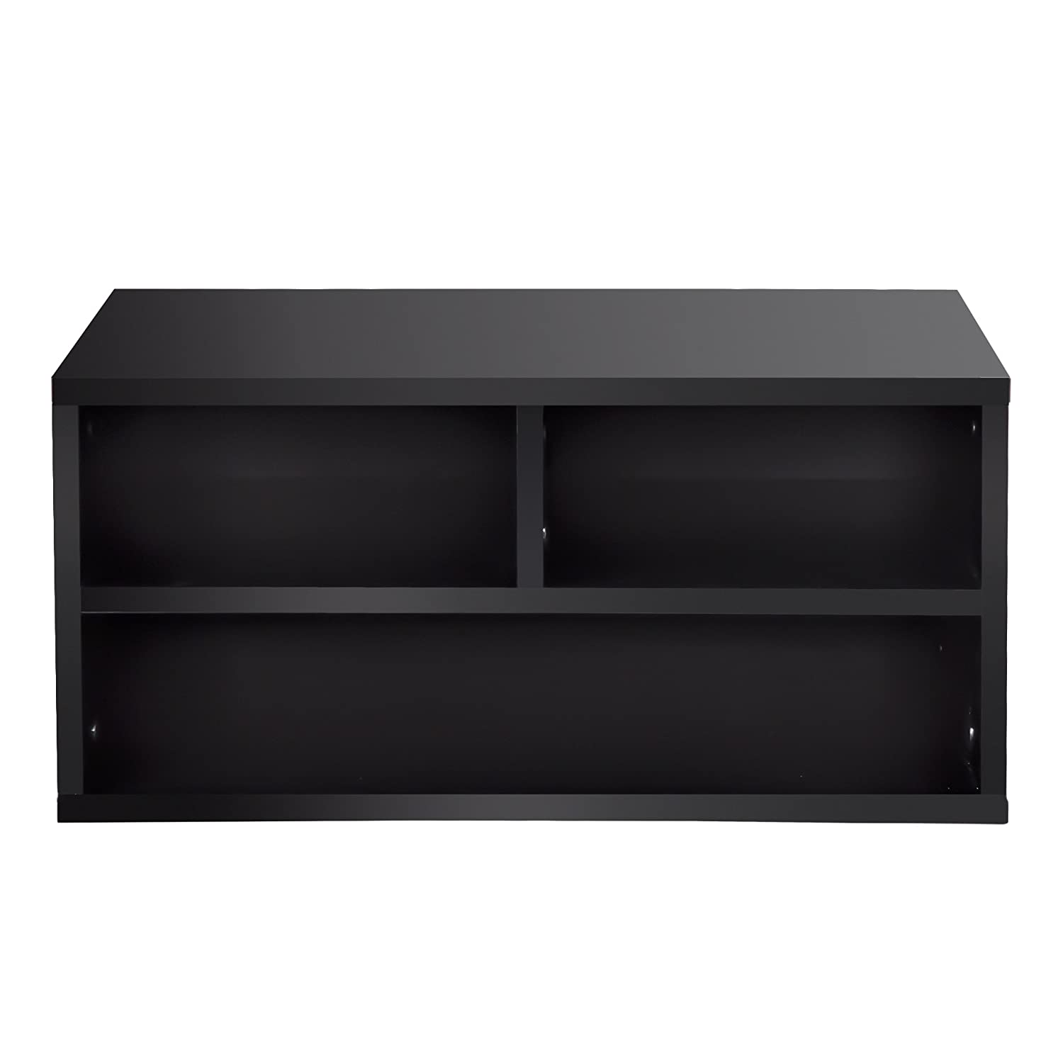fitueyes wood two tier black printer fax stands workspace organizers do204701wb g electronics. Black Bedroom Furniture Sets. Home Design Ideas