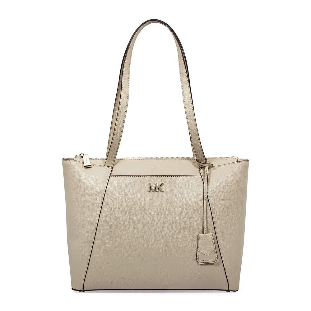 ef69505aa6 Michael Kors Maddie Medium Crossgrain Leather Tote- Oat  Handbags   Amazon.com