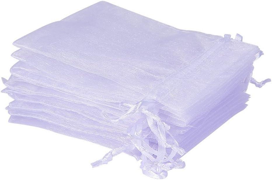 UCLEVER 50 Piezas bolsitas de Organza Blanco Bolsas de Tul para Regalos Joyas Bodas Tansparente, 10x15cm