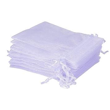 07cd4e4cf UCLEVER 50 Piezas bolsitas de Organza Blanco 12x17 cm Bolsas de Tul para  Regalos Joyas Bodas Tansparente: Amazon.es: Hogar