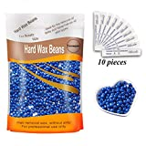 Depilatory Wax Beads - Yovanpur Hair Removal Hard Wax Beans Hard Body Wax Beans For Facial Arm Legs 300g/bag with 10pcs Wax Spatulas(Chamomile)