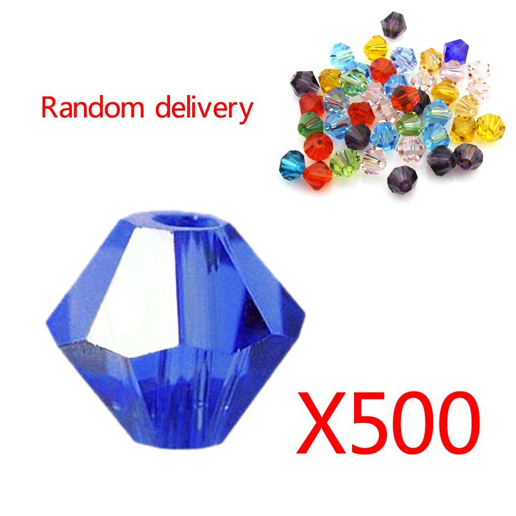 Topker 500pcs perles rondes acryliques rondes facettées acryliques 6Mm