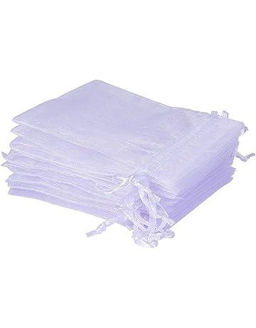 UClever 50 Piezas bolsitas de organza 10x15cm Bolsas de Tul para Regalos Joyas Bodas Tansparente