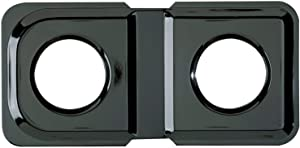 Range Kleen 1-Piece Drip Pan, Style K fits rectangle burner Gas Ranges Amana, GE, Hotpoint, Kenmore, Magic Chef, Maytag, Black Porcelain