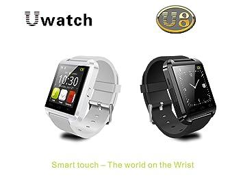 SUNDREAMTECH® U8 Bluetooth 3.0 Elegante reloj táctil reloj de pulsera de pantalla para Android IOS