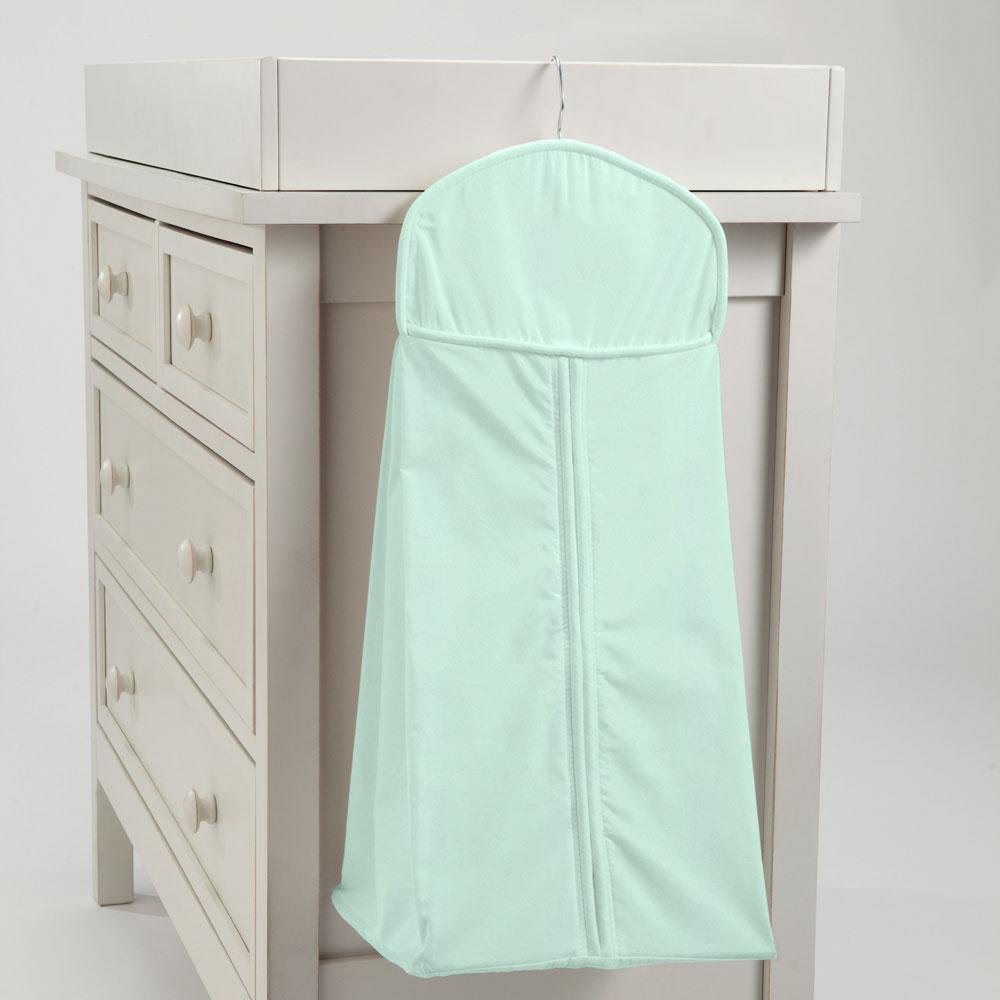 Carousel Designs Solid Mint Diaper Stacker