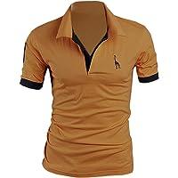 SOMTHRON Hombre Camisas de Polo de Manga Corta de algodón más el tamaño de Manga Delgada Camisas de Golf y Tenis Informal Camisa de Rugby de Verano Ropa Deportiva 5XL