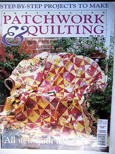 Read Online Australian Patchwork & Quilting 2000 Vol 7 No 12, Summer Fruit, Antique Pickle Dish, Sashiko, 40 Blocks, Irises, Oak Leaf Cushion pdf