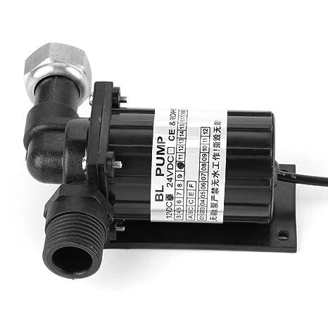 Akozon Umw/älzpumpe DC 24 V 18 Watt Brushless Wasserpumpe Hohe Temperaturbest/ändigkeit Umlauf Ger/äuscharm Schwarz
