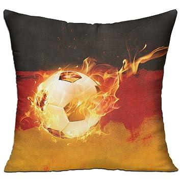 Amazon.com: CY tienda bandera de Alemania fuego fútbol ...
