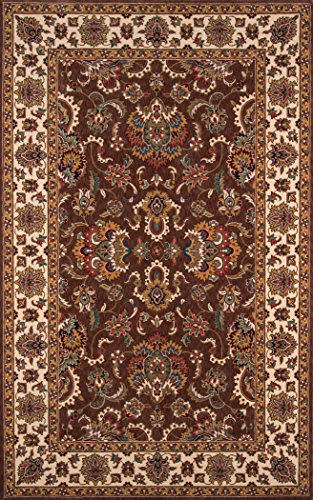 Momeni Rugs PERGAPG-14COO80A0 Persian Garden Collection, 100% New Zealand Wool Traditional Area Rug, 8' x 10', Cocoa Cocoa Persian Garden