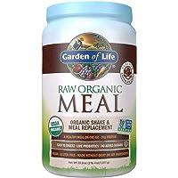 Garden of Life Meal Replacement - Organic Raw Plant Based Protein Powder, Chocolate, Vegan, Gluten-Free, 35.9oz (2lb 4oz…