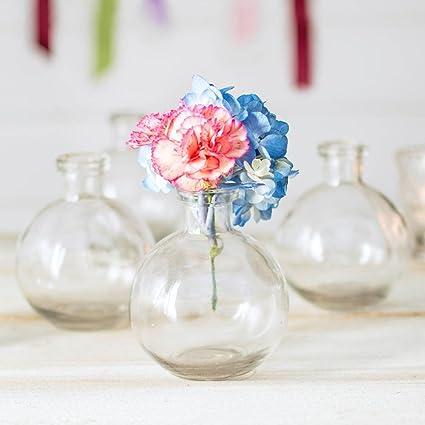 Amazon Glass Bud Vase Ball Bottle 35 In Round X 425 In
