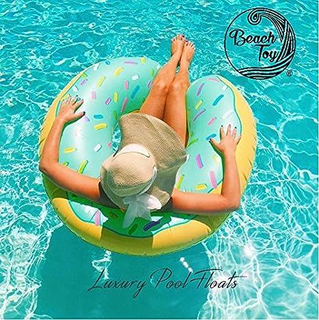 Beach Toy ® - Flotador hinchable para piscina DONUT: Amazon.es: Juguetes y juegos