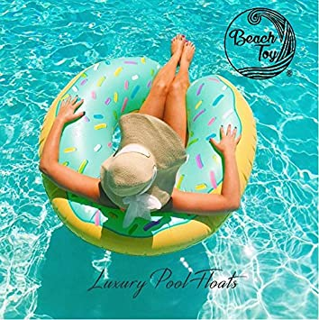 Beach Toy ® - Flotador hinchable para piscina DONUT: Amazon ...