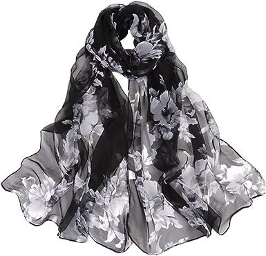 Hot Fashion Women Lady Flowers Chiffon Scarf Soft Shawl Wrap Neck Thin Stole