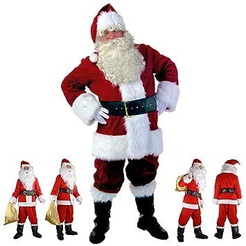 Amazon.com: Disfraz de Papá Noel de lujo, traje de Navidad ...