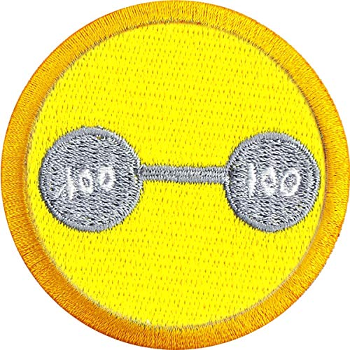 Weightlifting Wilderness Scout Merit Badge Iron on Patch (Boy Scout Merit Badge Citizenship In The Community)