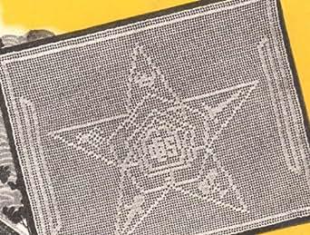Eastern Star Emblem Filet Crochet Pattern - Kindle edition