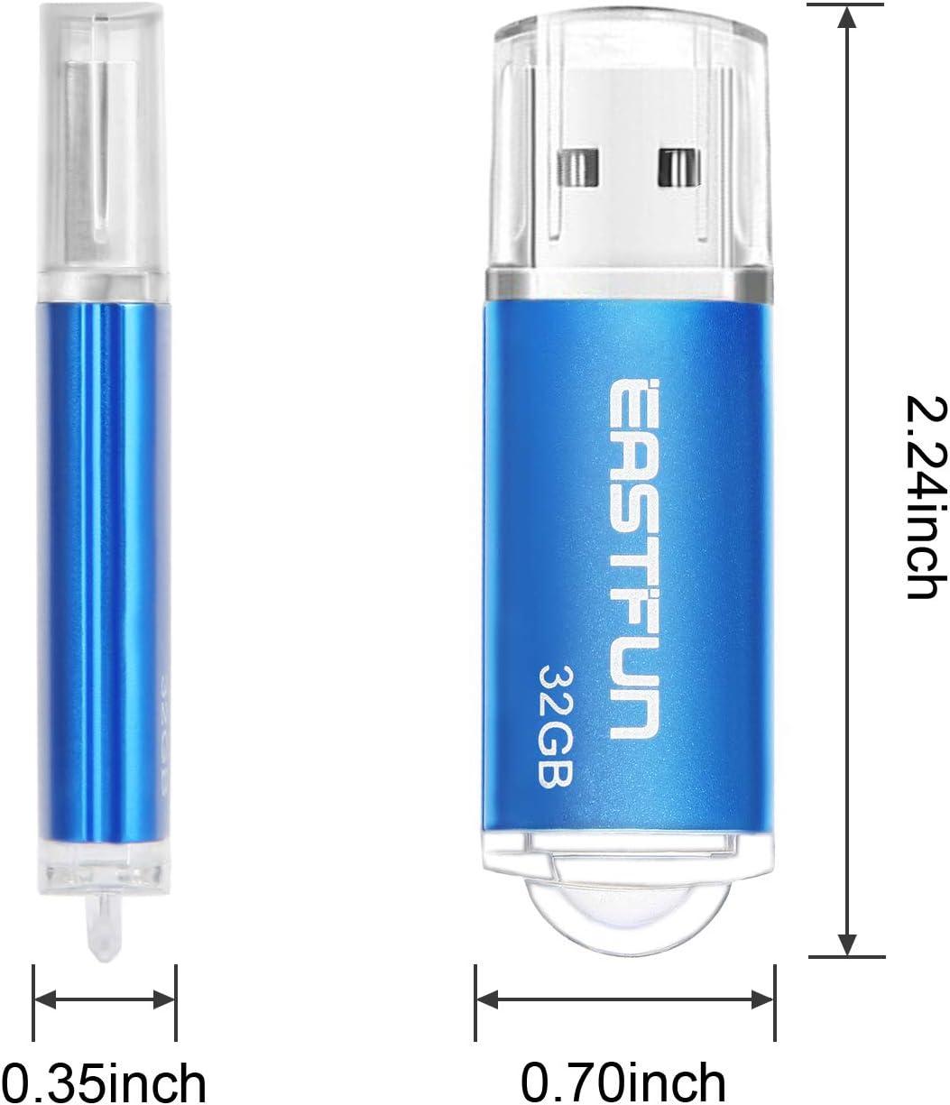Gold Rose Blue Purple Green 5 x 32GB Colors 5 Pack EASTFUN 32GB USB 2.0 Flash Drive Memory Stick Thumb Drive Pen Drive Jump Drive Zip Drive