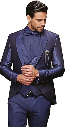 Herren Anzug 8 teilig Königsblau oder GrauSchwarz Designer Hochzeitsanzug NEU PC_18