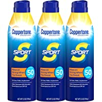 Coppertone Sport Continuous Sunscreen Spray Broad Spectrum SPF 50 Multipack (5.5 Ounce Bottle, Pack of 3) (Packaging May…