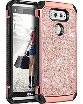 LG V20 Case, BENTOBEN 2 in 1 Cool Slim Hybrid Hard PC Cover Laminated with Carbon Fiber Chrome Anti-scratch Shockproof Protective Case for LG V20 Case from BENTOBEN