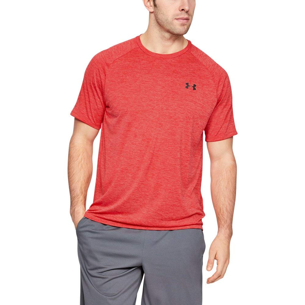 Under Armour mens Tech 2.0 Short Sleeve T-Shirt, Barn (633)/Pitch Gray, Small