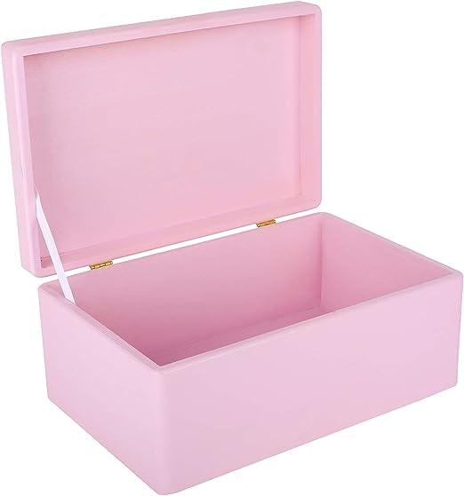 Creative Deco Rosa Grande Caja de Madera para Juguetes | 30 x 20 x ...