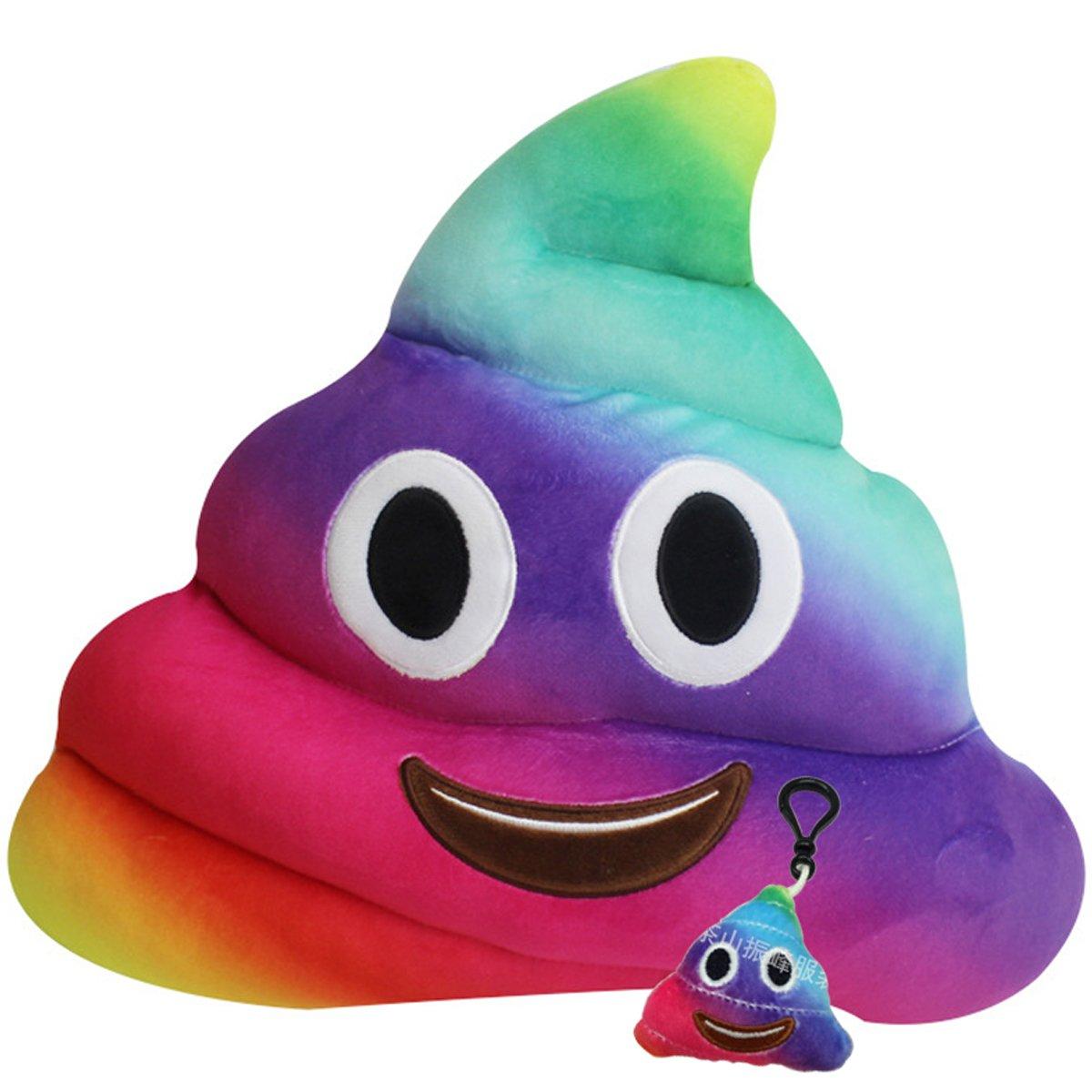 Wemi Emoji Plush Toys Cartoon Cushion 14 inches Poop Stuffed Rainbow Pillows Dolls