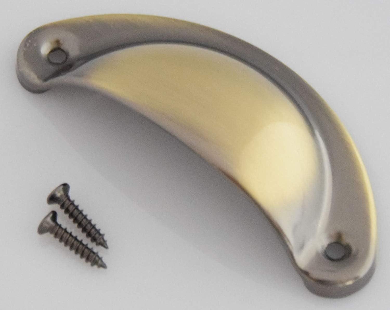 24x  Muschelgriffe Schalengriffe Apothekergriff Griffschale Möbelgriff Griff