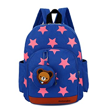 cad19d0b8 WINGMO Kids Book Backpack Five-Pointed Star Baby Children s School Bag and  Bear Coin Purse