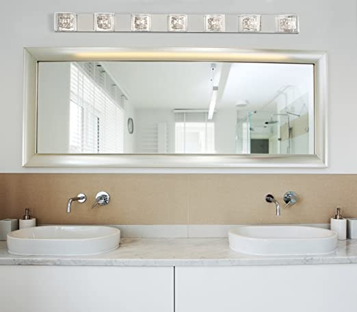 Possini Euro Design Wrapped Wire 56 Wide Bathroom Light Vanity Lighting  Fixtures Com