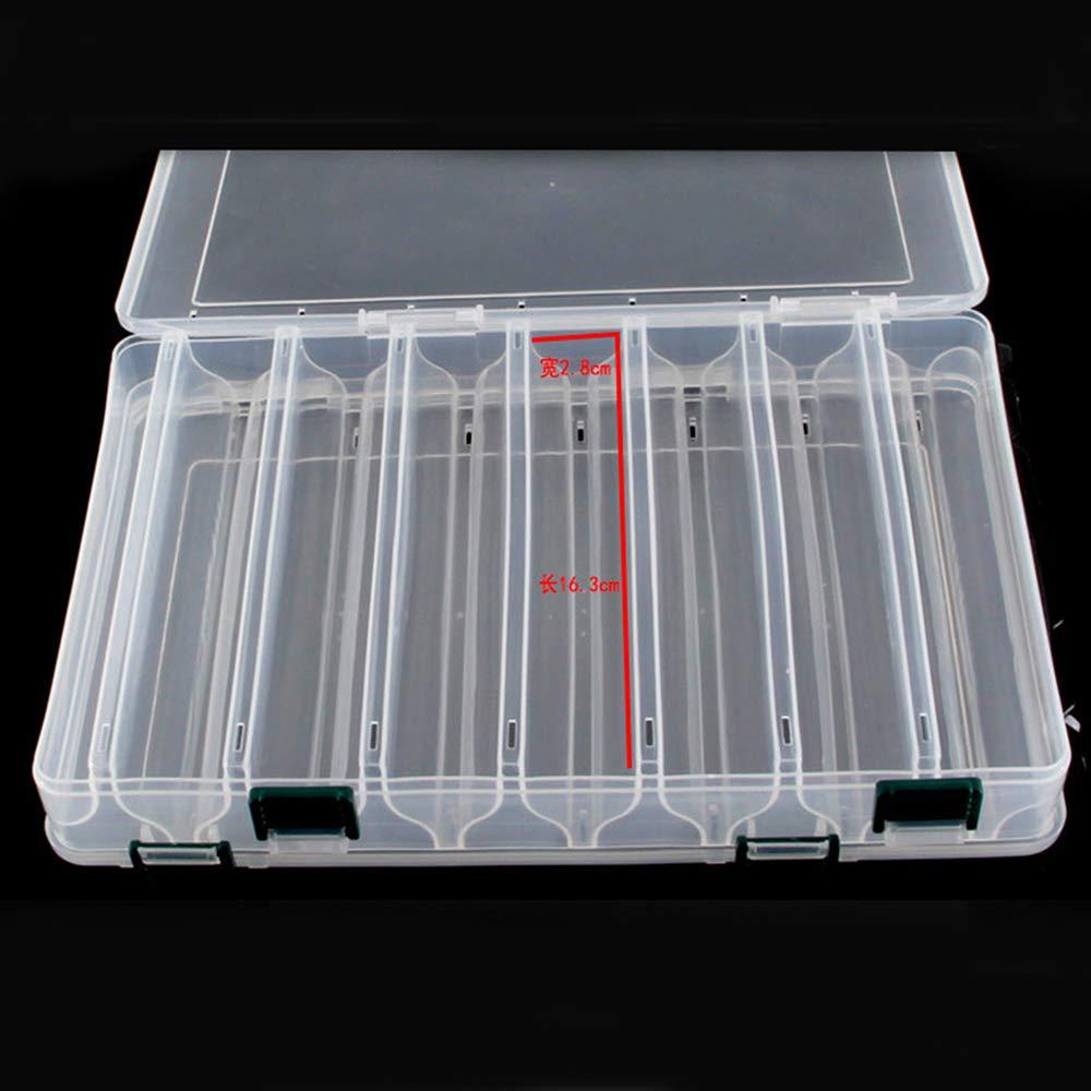 vissen Fishing Tackle Box Bait Lure Hooks Box Bait Storage Case 14 Compartment Fish Lure Spoon Hook Bait for Pesca