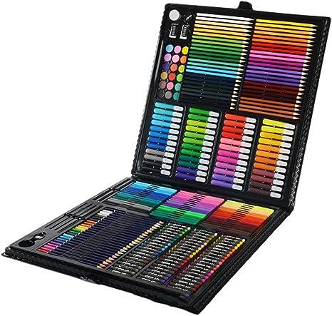 Kit De Arte Profesional Kit De Arte De Lápices De Colores De 258 Piezas para Niños Adolescentes Y Adultos/Set De Caja De Regalo para Dibujo De Pintura Y Más: Amazon.es: Deportes y