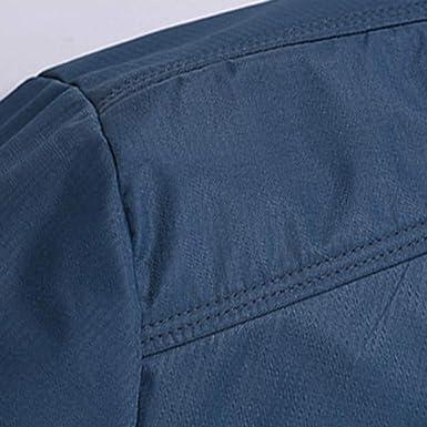 Overdose Chaqueta Hombre Abrigo c/álido Outwear Cool Azul Oscuro 6XL m/ás Talla Slim Long Trench Zipper Camisa Negra Abrigo de Invierno Chaqueta de oto/ño