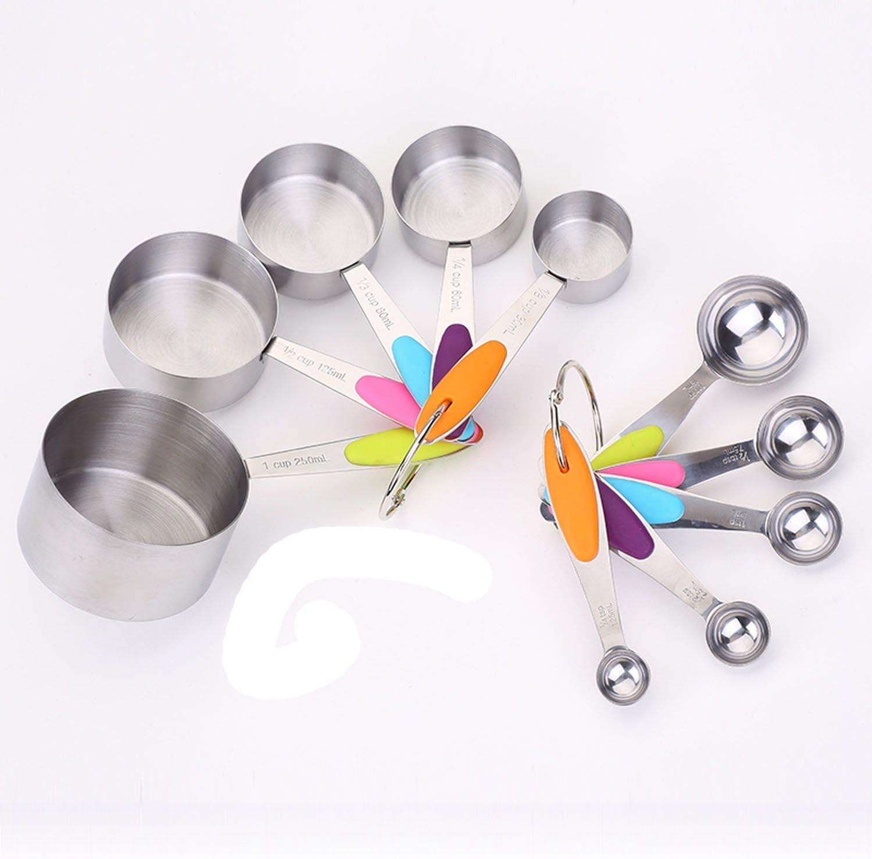 Juego de cucharas medidoras de acero inoxidable para cocina ...